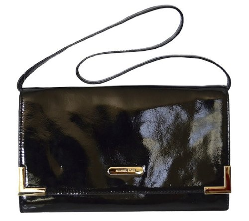 Michael Kors Patent Leather Beverly Oversized Clutch Handbag