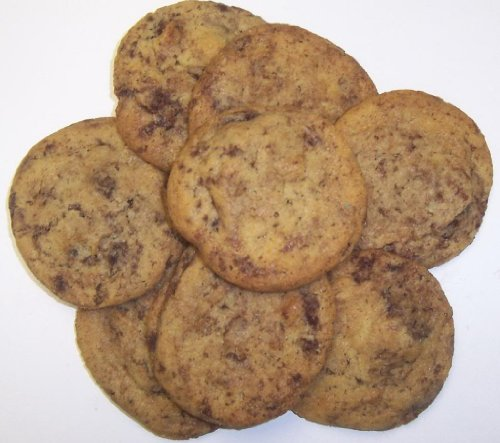 Scott's Cakes 1 lb. Brownie Chunk and Coconut Macaroon Cookies in a Decorative Tray with Krinkle Paper