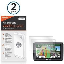Garmin Nuvi 2555LMT Screen Protector, BoxWave [ClearTouch Anti-Glare (2-Pack)] Anti-Fingerprint Matte Film Skin for Garmin Nuvi 2555LMT