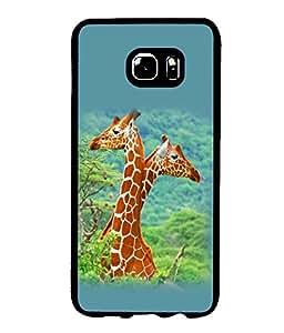 printtech Giraffe Jungle Couple Back Case Cover for Samsung Galaxy S6 Edge+ G928::Samsung Galaxy S6 Edge Plus G928F