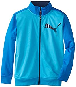 Puma Kids Boy's 8-20 Blocked Jacket, Hawaiian Ocean, Medium