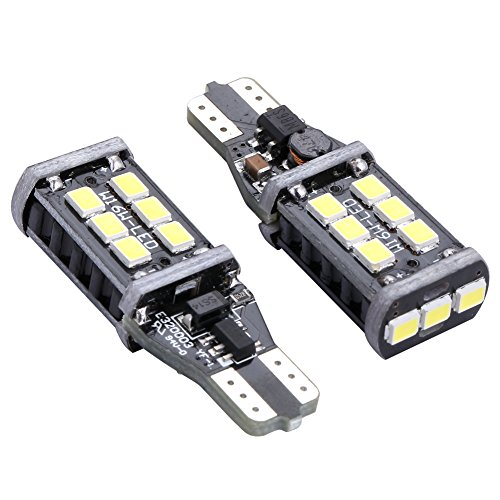 ENDPAGE 2x 800 Lumens Xenon White 921 912 906 904 902 T15 W16W 15-SMD Error Free PX Chipsets Super Bright LED Bulbs Replacement for Car Backup Lamp Reverse Lights (Chevy Volt Model compare prices)