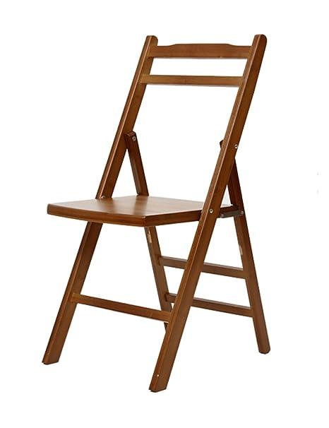 Silla de escritorio Silla plegable de la madera sólida casera de la manera Silla de oficina ( Diseño : Pack of 3 )