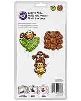Wilton 2115-2100 Lollipop Mold Monkey, 3 Cavities/3 Designs