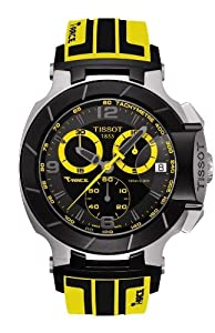 Tissot T-Race Chronograph Black Dial Silicone Rubber Mens Watch T0484172705711