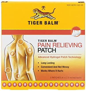 Tiger Balm Patch, Pain Relieving Patch, 4x2.75,  5-Count Packages