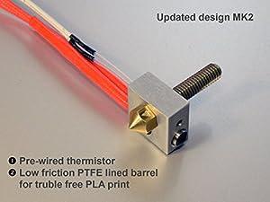 Metal DIY Hot End for RepRap 3D Printer 1.75mm Filament 0.4mm Nozzle hotend from 3D CAM
