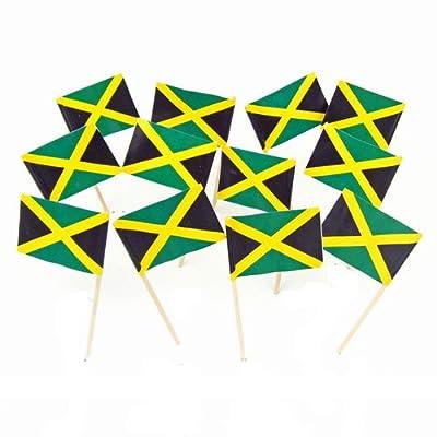 Jamaica | Jamaican Flag Toothpicks (100)