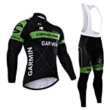 Herren Thermo-Winter Windjacke Fahrrad-Trägerhose, gepolstert, kurze Hose Trikot Langarm Set-Jacke? Größe L Weiß - Color 3