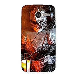 Luxirious Warrior Knight Print Back Case Cover for Moto X
