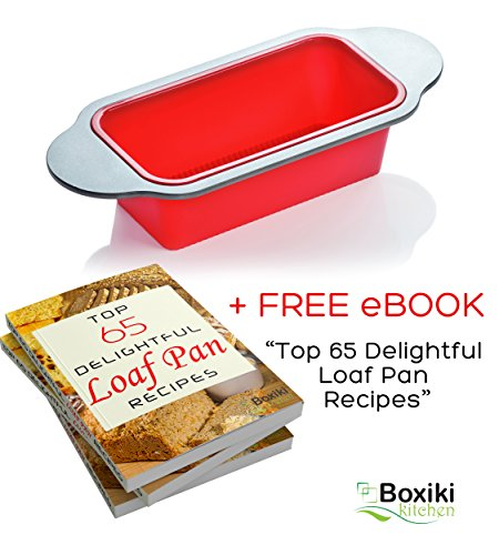 Meatloaf and Bread Pan | Gourmet Non-Stick Silicone Loaf Pan by Boxiki Kitchen | for Baking Banana Bread, Meat Loaf, Pound Cake | 8.5