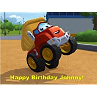 Chuck the Truck Edible Image Cake Topper Birthday Cake PERSONALIZED FREE!