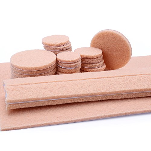 Felt pads heavy duty self adhesive furniture pads floor for Chair leg pads for laminate floors