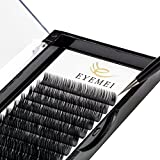 Eyelash Extensions 0.20 C Curl Natural Thick Individual Lashes Faux Mink Eyelash Extensions 8-14mm 8 Sizes in 1 Mixed Tray by EYEMEI
