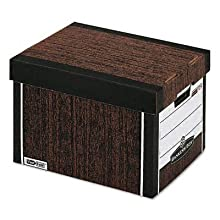 Bankers Box R-Kive Heavy-Duty Storage Boxes, Letter/Legal, Woodgrain, 4 Pack (0072506)