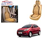 Auto Pearl - Premium Quality Car Wooden Bead Seat Cover For - Ford Figo Aspire - Set Of 2Pcs