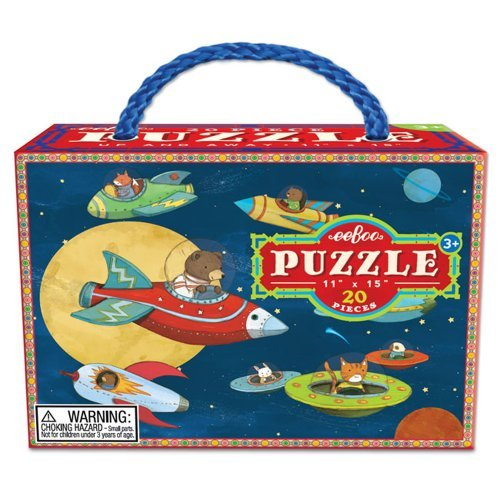 Eeboo Up and Away Jigsaw Puzzle, 20 Pieces