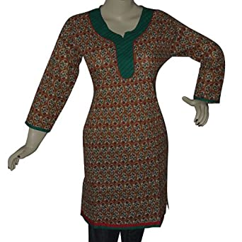 Cotton Tunic Top Summer Printed Kurti from India