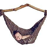 Zeagoo Crochet Newborn Baby Knit Hammock Photography Photo Props Bed Custome Brown Color: Brown Model: FZ018806_BR (Newborn, Child, Infant)