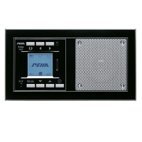 PEHA MP3 Unterputz-Radio AudioPoint im Nova-Design mit Funksender, Rahmen Piano schwarz