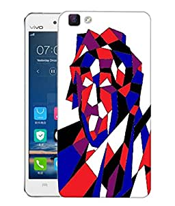 Snoogg Abstract Multicolor Designer Protective Back Case Cover For VIVO V1 MAX