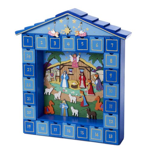 Kurt adler wooden nativity advent calendar How to build a wooden advent calendar