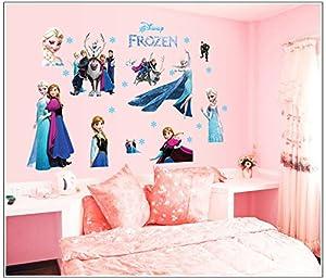 Large size frozen elsa pegatinas de pared infantiles dormitorio decoración Mural del hogar