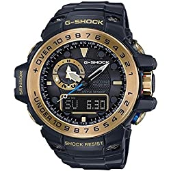 G-Shock GWN-1000GB Master of G Series Stylish Watch - Black and Gold / One Size