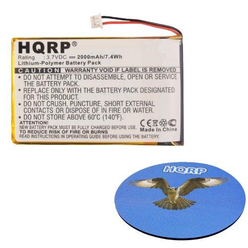 Hqrp 2000Mah Battery For Bushnell Yardage Pro Golf Gps Unit 368100 368110 Range Finder Buu0057 E35010M28 H604261H + Hqrp Coaster