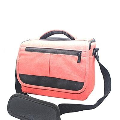 Hcytech Urban Casual Waterproof Canvas Digital SLR DSLR Cameras and Accessories Bag Message Bag Shoulder Bag Red