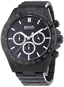 hugo boss herren armbanduhr xl chronograph quarz edelstahl. Black Bedroom Furniture Sets. Home Design Ideas