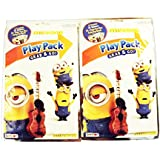 Minion Grab n Go Play Pack x 2 (each include 4 crayons, 25 stickers, 24 pages fun coloring book)