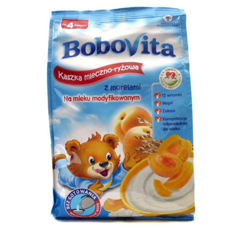 Bobovita Milk and Rice Gruel Apricot for Babies (230g/8.1oz)
