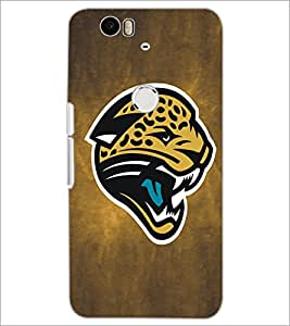 PrintDhaba Leopard Face D-5183 Back Case Cover for HUAWEI NEXUS 6P (Multi-Coloured)