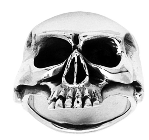 Stainless Steel Jawless Skull Ring (Available in Sizes 10 to 14) size11
