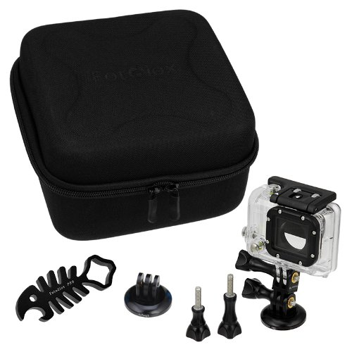 Fotodiox Gt-Kitx2-Black Gotough Camcase Double Black Kit With Carrying Case And Metal Accessories For Two Gopro Hero Cameras - 9 Piece