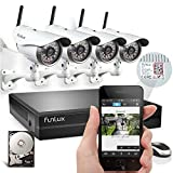 Funlux® 1 Megapixel 720P HD 4CH NVR 4 Wireless Outdoor IP Network Surveillance Camera Kit CCTV Security Camera System with 1TB HDD & Scan QR Code Quick View Model: KS-S44UE-W-1TB