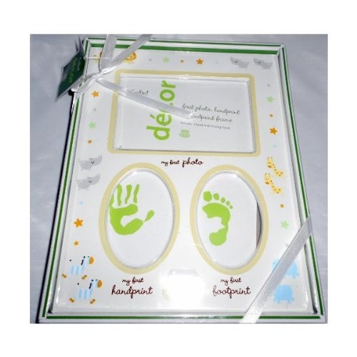 Nursery Photo Frame Holds My First Photo, My First Handprint, My First Footprint - 1