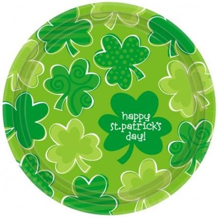 Amscan Playful Shamrocks 9 Round Plates
