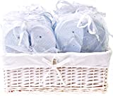 Zohula Weiß Hochzeit Flip Flops Zehentrenner Premium-Partypaket - 20 Paare Ungleich gr Flip-Flops Inklusive Weidenkorb Präsentation