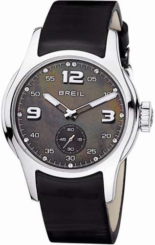 Breil BW0062 Ladies 'Globe' Swarovski Crystal Set Black Leather Watch