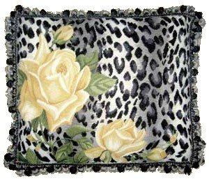 Animal Print Needlepoint Pillows : Amazon.com : Black and White Leopard Print Needlepoint Toss Pillow : Patio, Lawn & Garden
