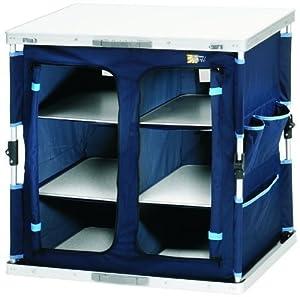 Campingschrank, EASYQUICKSYSTEM zum schnellen auf und abbauen, leichtes verstauen in 6 Ablagefächern (marineblau)  BaumarktKundenbewertung und Beschreibung