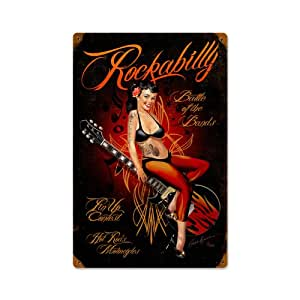 rockabilly blechschild wanddeko 12 x 18 cm. Black Bedroom Furniture Sets. Home Design Ideas