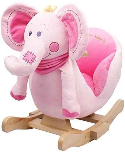 Pink Elephant Animal Rocker for Girls