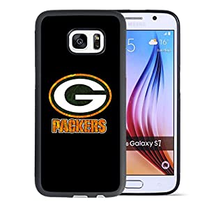 Samsung Galaxy S7 Case, Onelee Customized NFL Green Bay Packers Logo [Anti Slip] Black TPU and PC Samsung Galaxy S7 Case, [Drop Protection] Green Bay Packers Logo Galaxy S7 Case by Onelee