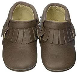 Old Soles Unisex Fringe Boot Slip On (Infant/Toddler), Distressed Coffee, 18 EU(2 M US Infant)