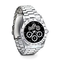 Ride Hard, Live Free Stainless Steel Motorcycle Chronograph Watch: Jewelry Gift For Biker by The Bradford Exchange