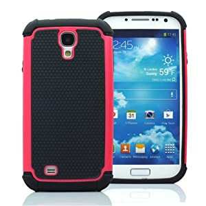 CaseMore Pink Plastic + Silicon Material Protective Armor Case for Samsung Galaxy S4 S IV i9500