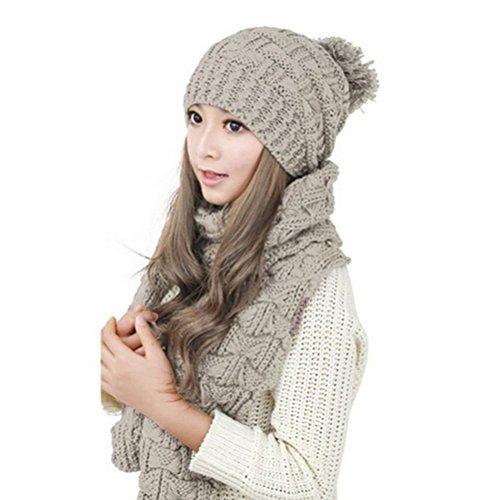 leorx-women-winter-knitted-thicken-hat-cap-and-scarf-set-beige